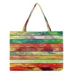 Stripes Color Oil Medium Tote Bag by BangZart