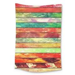 Stripes Color Oil Large Tapestry