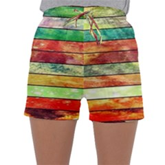 Stripes Color Oil Sleepwear Shorts