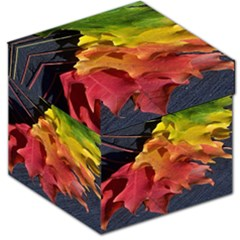 Green Yellow Red Maple Leaf Storage Stool 12   by BangZart