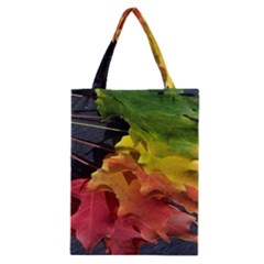 Green Yellow Red Maple Leaf Classic Tote Bag