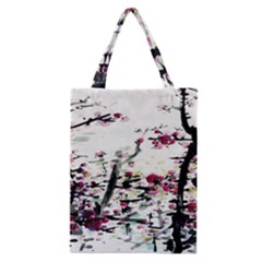 Pink Flower Ink Painting Art Classic Tote Bag by BangZart