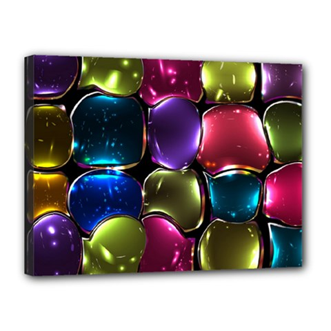 Stained Glass Canvas 16  X 12  by BangZart