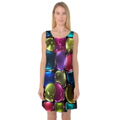 Stained Glass Sleeveless Satin Nightdress by BangZart