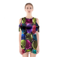 Stained Glass Shoulder Cutout One Piece