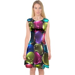 Stained Glass Capsleeve Midi Dress by BangZart