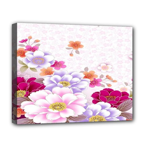 Sweet Flowers Deluxe Canvas 20  X 16