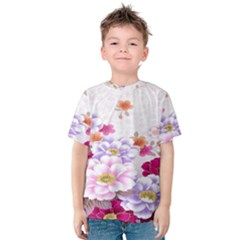Sweet Flowers Kids  Cotton Tee by BangZart