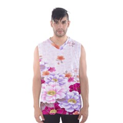 Sweet Flowers Men s Basketball Tank Top
