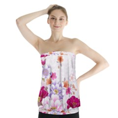 Sweet Flowers Strapless Top by BangZart