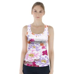 Sweet Flowers Racer Back Sports Top