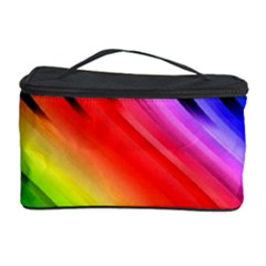 Colorful Vertical Lines Cosmetic Storage Case