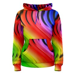 Colorful Vertical Lines Women s Pullover Hoodie