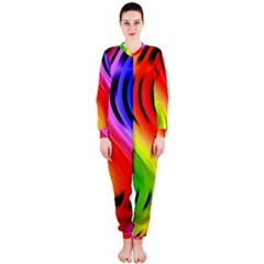 Colorful Vertical Lines Onepiece Jumpsuit (ladies)