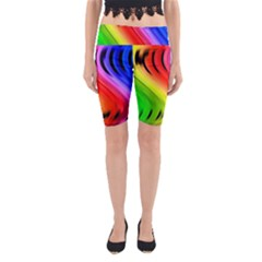 Colorful Vertical Lines Yoga Cropped Leggings