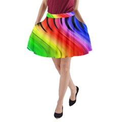 Colorful Vertical Lines A Line Pocket Skirt by BangZart