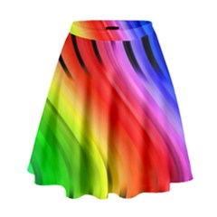 Colorful Vertical Lines High Waist Skirt by BangZart