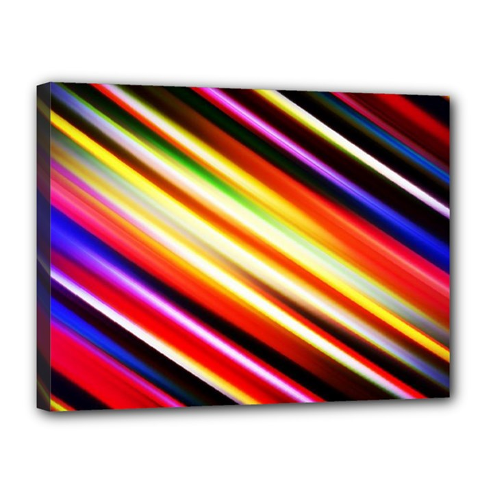 Funky Color Lines Canvas 16  x 12