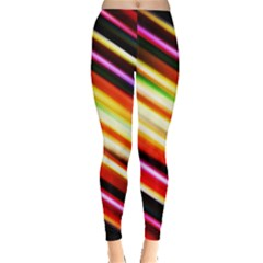Funky Color Lines Leggings  by BangZart