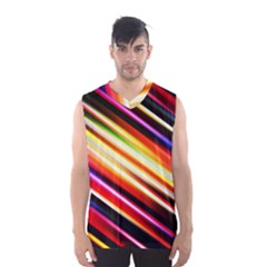 Funky Color Lines Men s Basketball Tank Top