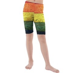 Five Wall Colour Kids  Mid Length Swim Shorts by BangZart