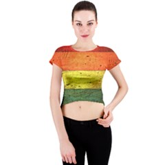 Five Wall Colour Crew Neck Crop Top