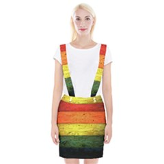 Five Wall Colour Braces Suspender Skirt