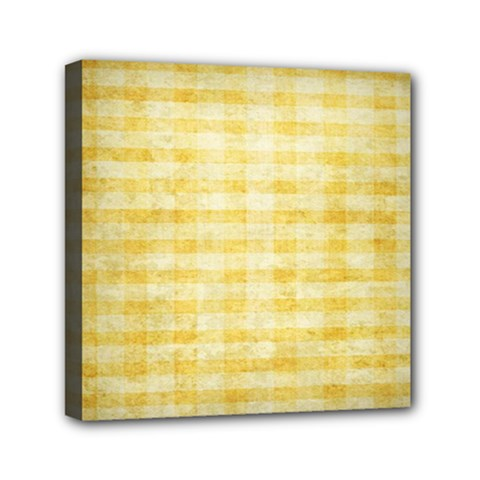 Spring Yellow Gingham Mini Canvas 6  X 6  by BangZart