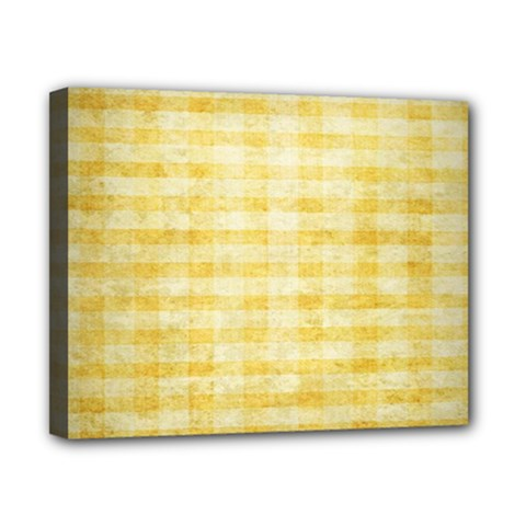 Spring Yellow Gingham Canvas 10  X 8  by BangZart