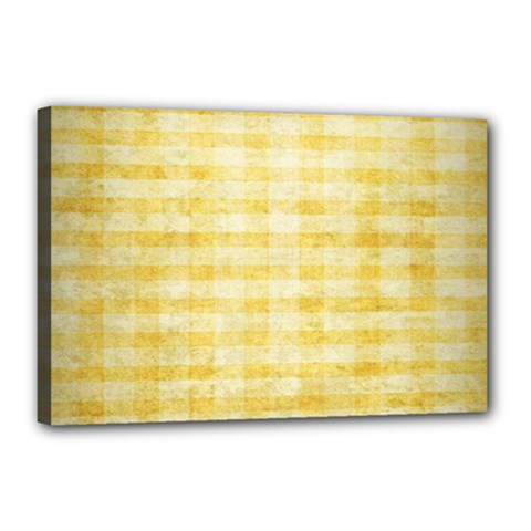 Spring Yellow Gingham Canvas 18  X 12