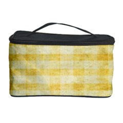 Spring Yellow Gingham Cosmetic Storage Case by BangZart