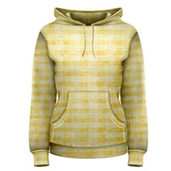 Spring Yellow Gingham Women s Pullover Hoodie