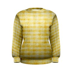 Spring Yellow Gingham Women s Sweatshirt by BangZart