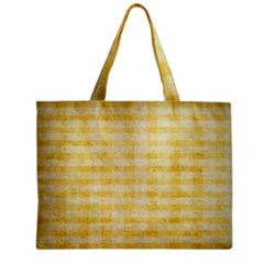Spring Yellow Gingham Zipper Mini Tote Bag
