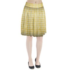 Spring Yellow Gingham Pleated Skirt by BangZart