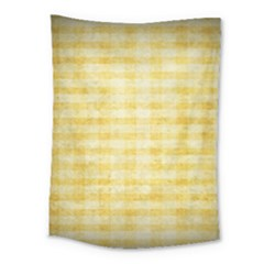 Spring Yellow Gingham Medium Tapestry