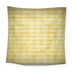 Spring Yellow Gingham Square Tapestry (large) by BangZart