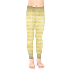 Spring Yellow Gingham Kids  Leggings  by BangZart