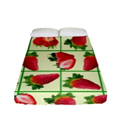 Strawberries Pattern Fitted Sheet (full/ Double Size) by SuperPatterns