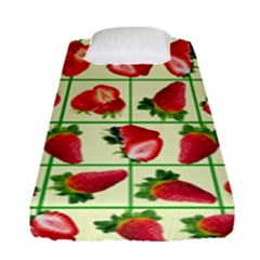 Strawberries Pattern Fitted Sheet (single Size) by SuperPatterns
