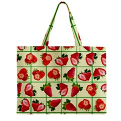 Strawberries Pattern Zipper Mini Tote Bag by SuperPatterns