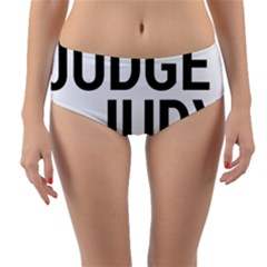 Judge Judy Wouldn t Stand For This! Reversible Mid Waist Bikini Bottoms