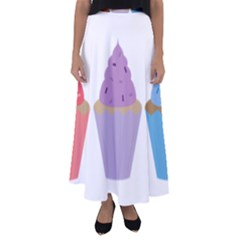 Cupcakes Flared Maxi Skirt by TailWags