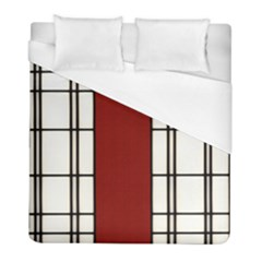 Shoji   Red Duvet Cover (full/ Double Size) by RespawnLARPer