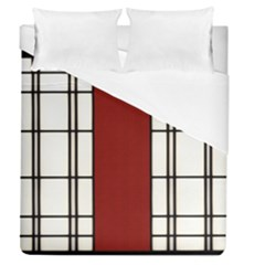 Shoji   Red Duvet Cover (queen Size) by RespawnLARPer