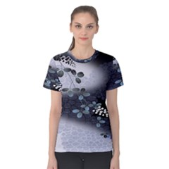 Abstract Black And Gray Tree Women s Cotton Tee