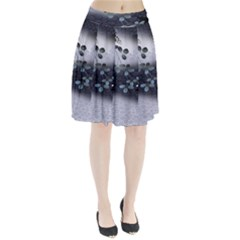 Abstract Black And Gray Tree Pleated Skirt