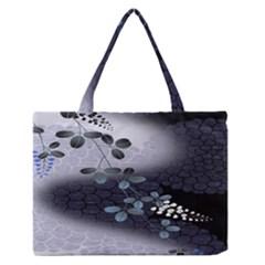 Abstract Black And Gray Tree Medium Zipper Tote Bag