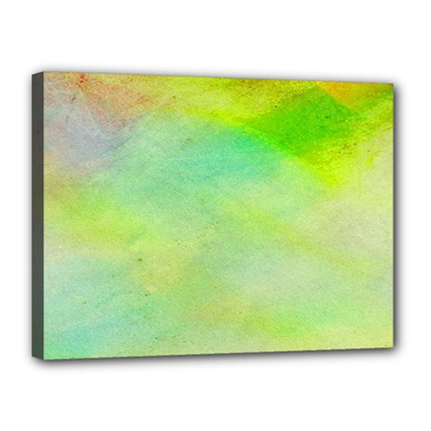 Abstract Yellow Green Oil Canvas 16  X 12  by BangZart