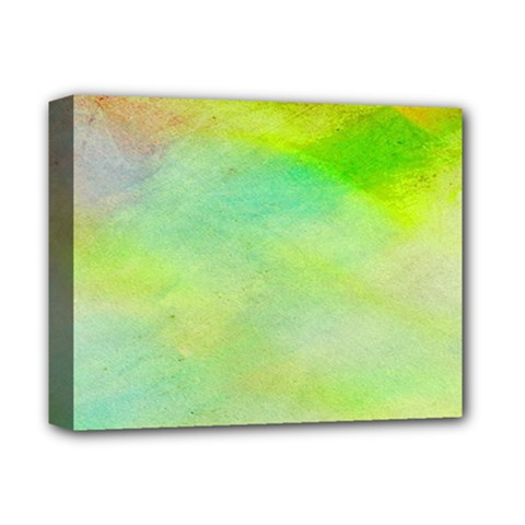 Abstract Yellow Green Oil Deluxe Canvas 14  X 11  by BangZart